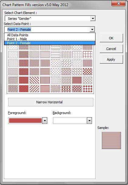 powerpoint pattern fill