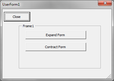 Resize userform